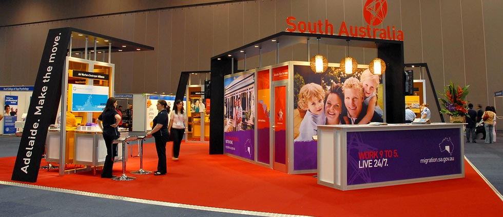 South Australia exhibition stand at Careers Expo, Sydney